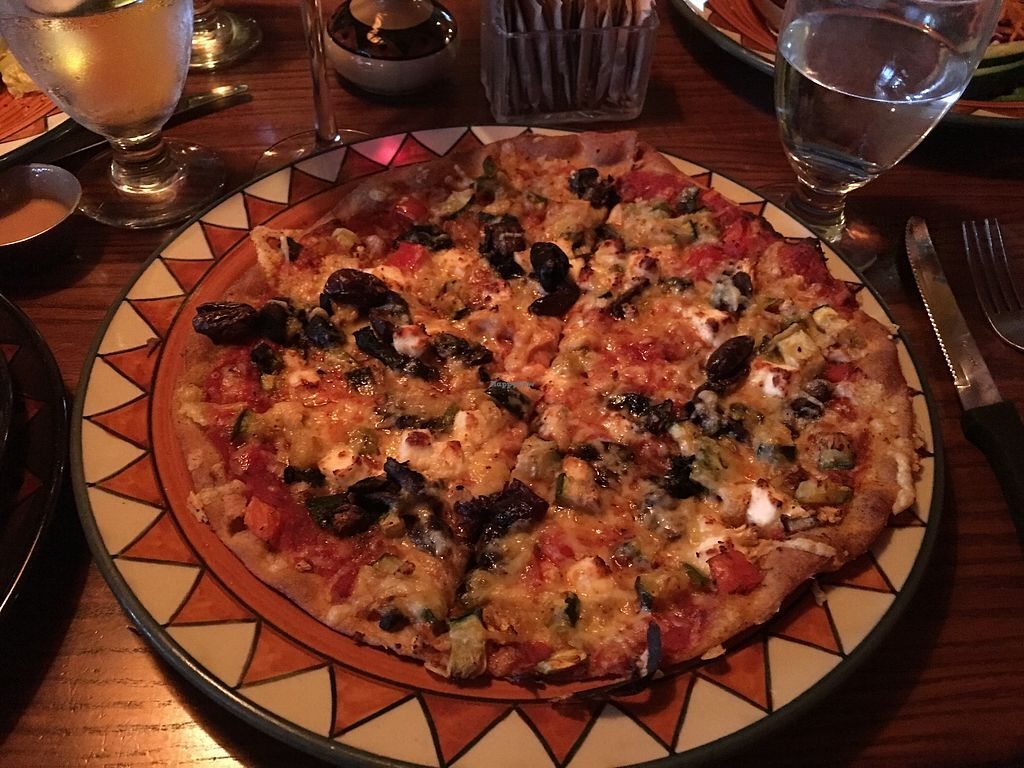 """Photo of Calactus Cafe  by <a href=""""/members/profile/gretchencita"""">gretchencita</a> <br/>""""The Works"""" pizza -- roasted veggies, feta, and Greek olives -- so good! <br/> July 16, 2017  - <a href='/contact/abuse/image/2916/280811'>Report</a>"""