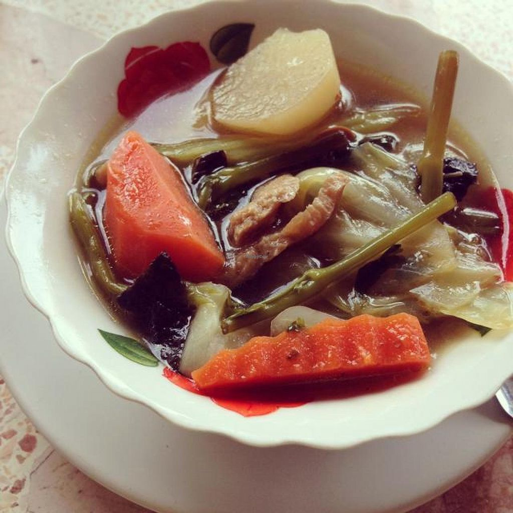 "Photo of Lamai Veggie  by <a href=""/members/profile/mikeybutt"">mikeybutt</a> <br/>amazing soup! 30 baht!  <br/> November 28, 2014  - <a href='/contact/abuse/image/29279/86700'>Report</a>"