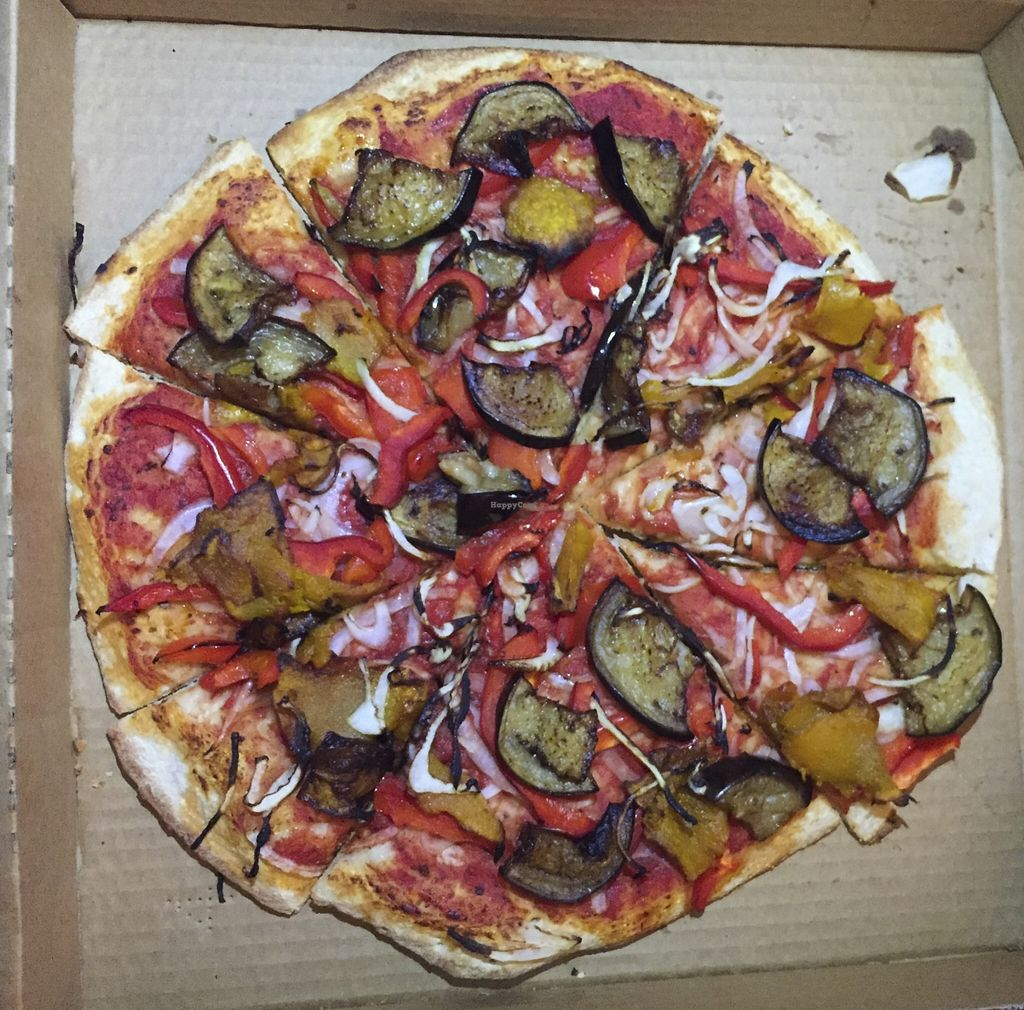"""Photo of Zavdiel's Pita Bakery  by <a href=""""/members/profile/karlaess"""">karlaess</a> <br/>Jerusalem Pizza (no cheese) <br/> November 15, 2015  - <a href='/contact/abuse/image/29280/125026'>Report</a>"""