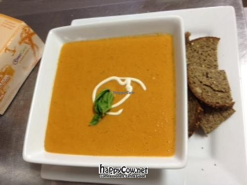 "Photo of Food For Thought Cafe  by <a href=""/members/profile/HealthyinMarathon"">HealthyinMarathon</a> <br/>Creamy Butternut Squash Soup with Cashew Cream <br/> March 17, 2012  - <a href='/contact/abuse/image/29292/29527'>Report</a>"