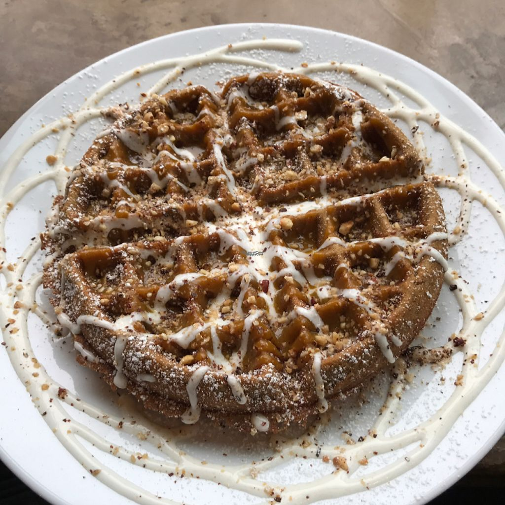 """Photo of CLOSED: A N D Cafe  by <a href=""""/members/profile/lindseymiller"""">lindseymiller</a> <br/>pumpkin cheesecake waffle <br/> April 15, 2017  - <a href='/contact/abuse/image/29296/248450'>Report</a>"""