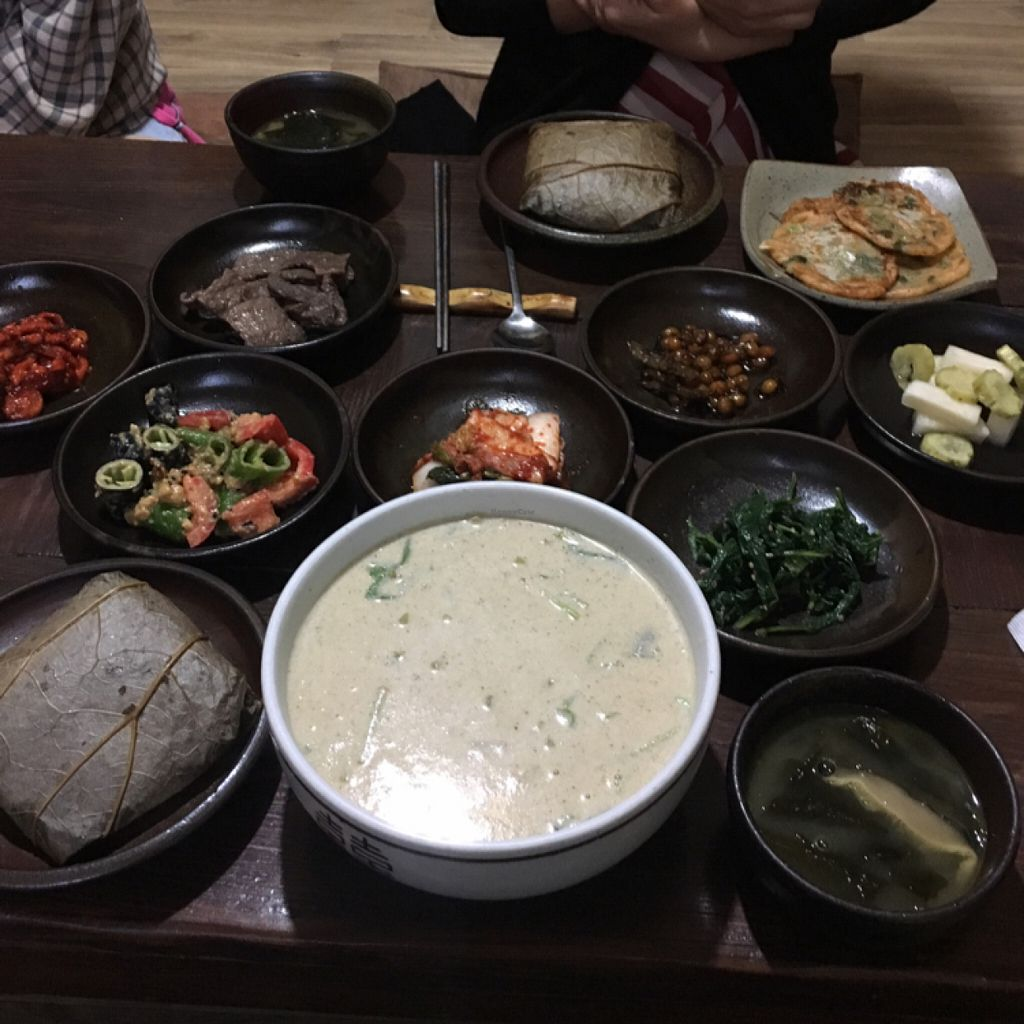 """Photo of Mulmaegol  by <a href=""""/members/profile/ChristineLee"""">ChristineLee</a> <br/>뜰깨수제비 and lotus leaf meal <br/> May 31, 2016  - <a href='/contact/abuse/image/29299/151555'>Report</a>"""
