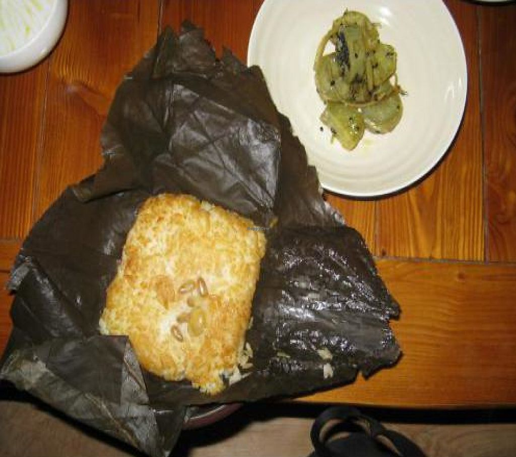 """Photo of Mulmaegol  by <a href=""""/members/profile/ahkow"""">ahkow</a> <br/>Lotus leaf rice (yeoipbap) and sweet potato <br/> December 1, 2011  - <a href='/contact/abuse/image/29299/196296'>Report</a>"""