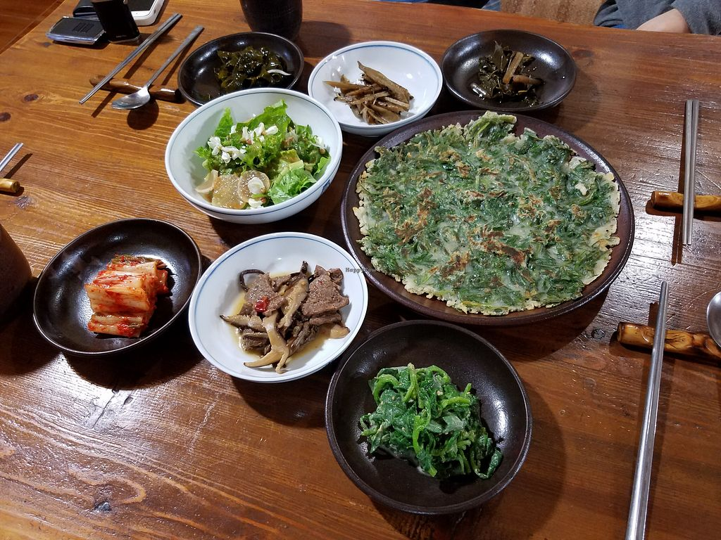 """Photo of Mulmaegol  by <a href=""""/members/profile/HannahP96"""">HannahP96</a> <br/>Banchan (side dishes) <br/> May 14, 2018  - <a href='/contact/abuse/image/29299/399518'>Report</a>"""