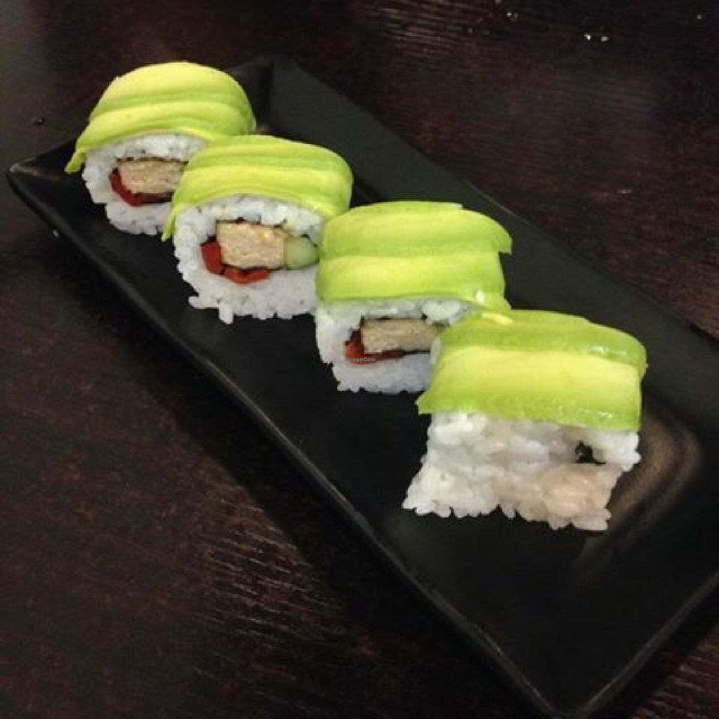 "Photo of Ying Vegetarian  by <a href=""/members/profile/TimmyVegan"">TimmyVegan</a> <br/>mango fried chicken sushi roll <br/> October 6, 2015  - <a href='/contact/abuse/image/29307/120378'>Report</a>"