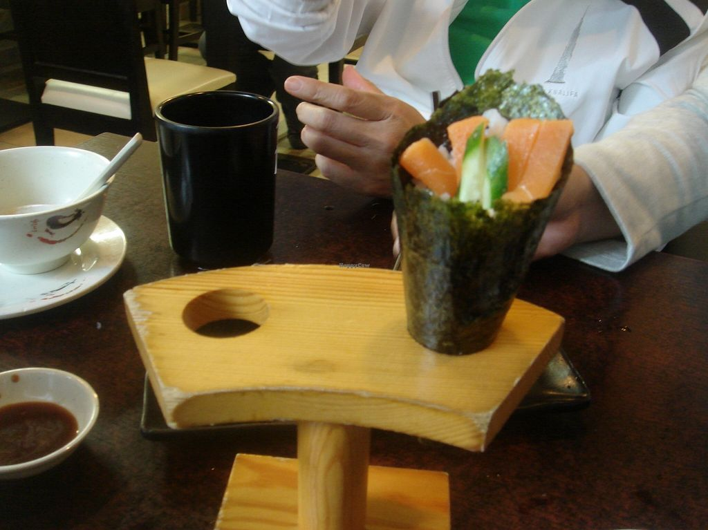 "Photo of Ying Vegetarian  by <a href=""/members/profile/nafanc"">nafanc</a> <br/>Mock salmon hand roll <br/> January 17, 2016  - <a href='/contact/abuse/image/29307/132766'>Report</a>"