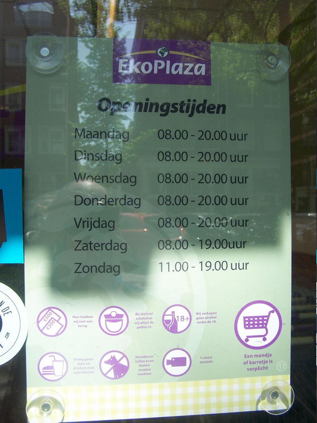 """Photo of Ekoplaza - Elandsgracht  by <a href=""""/members/profile/Amy1274"""">Amy1274</a> <br/>Opening times <br/> July 19, 2014  - <a href='/contact/abuse/image/2930/74401'>Report</a>"""