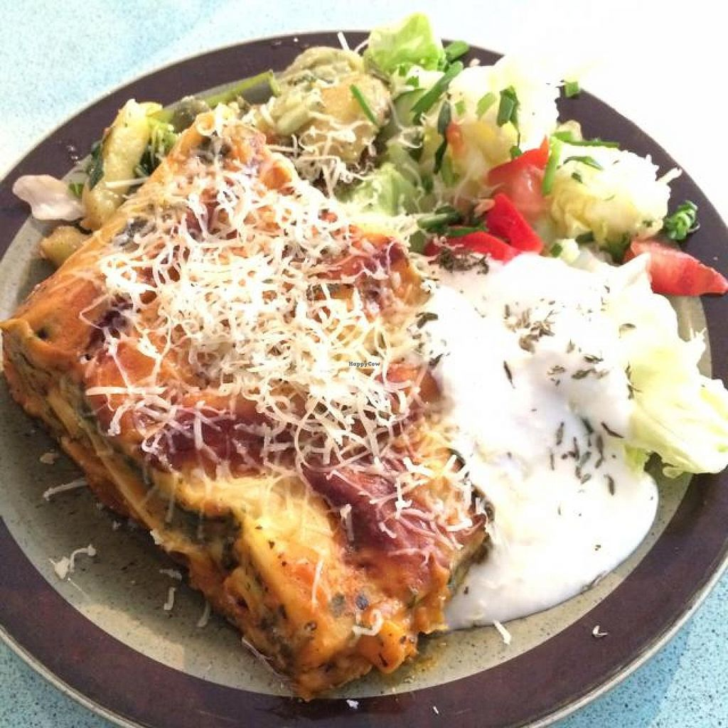 """Photo of CLOSED: Hugos Kaffe  by <a href=""""/members/profile/DaniM"""">DaniM</a> <br/>Vegetarian lasagne <br/> September 26, 2014  - <a href='/contact/abuse/image/29357/81126'>Report</a>"""
