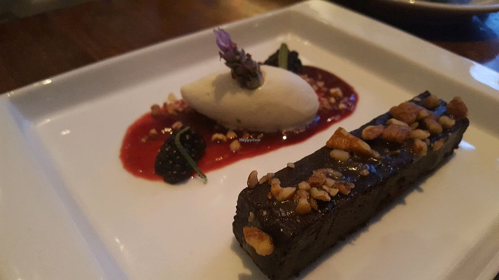 "Photo of Vedge  by <a href=""/members/profile/VeganScientist"">VeganScientist</a> <br/>chocolate bar with lavender ice cream <br/> May 24, 2018  - <a href='/contact/abuse/image/29361/404595'>Report</a>"