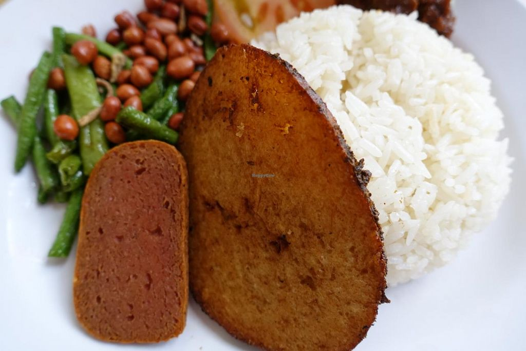 "Photo of Vegetarian Villas  by <a href=""/members/profile/JimmySeah"">JimmySeah</a> <br/>Nasi Lemak (coconut rice with mock fish otah) <br/> January 24, 2015  - <a href='/contact/abuse/image/29376/91324'>Report</a>"