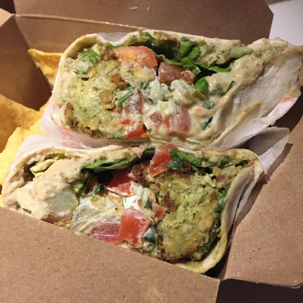 """Photo of Hummus Bros  Soho  by <a href=""""/members/profile/SaraFitz"""">SaraFitz</a> <br/>hummus wrap  <br/> June 20, 2016  - <a href='/contact/abuse/image/29381/155203'>Report</a>"""