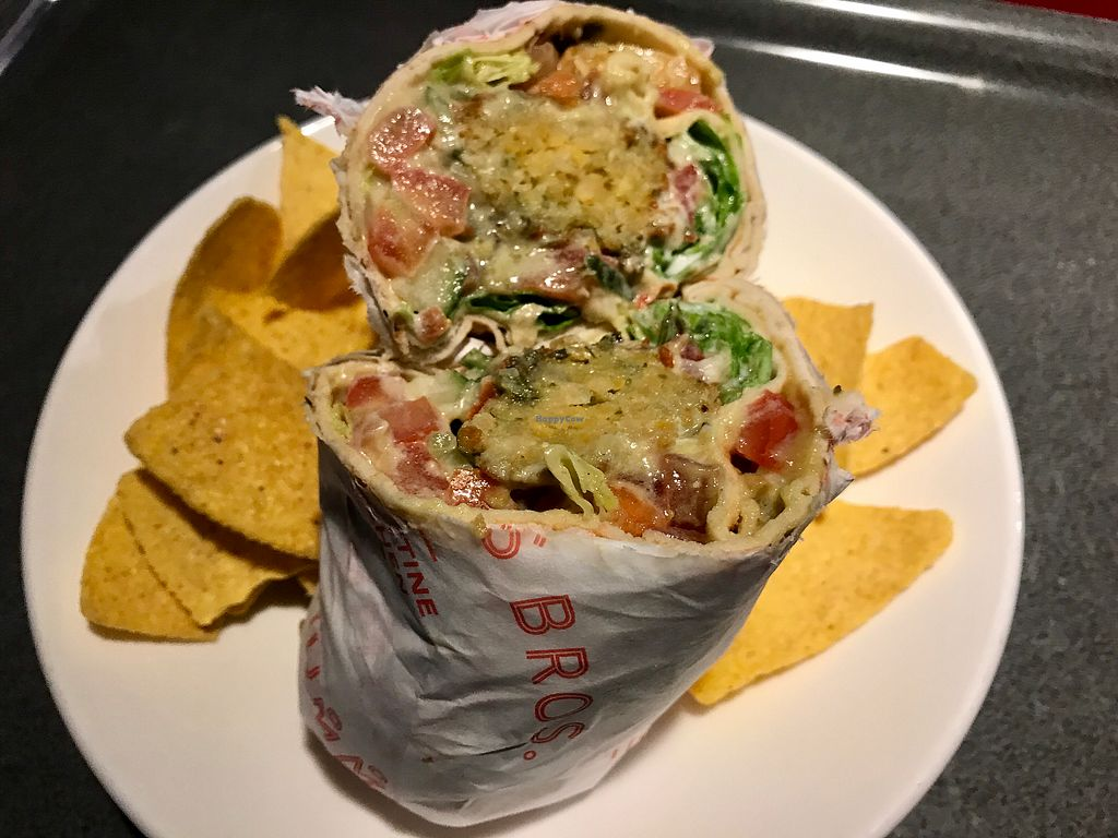 "Photo of Hummus Bros - Holborn  by <a href=""/members/profile/Swisis"">Swisis</a> <br/>Falafel hummus wrap <br/> August 2, 2017  - <a href='/contact/abuse/image/29382/287973'>Report</a>"