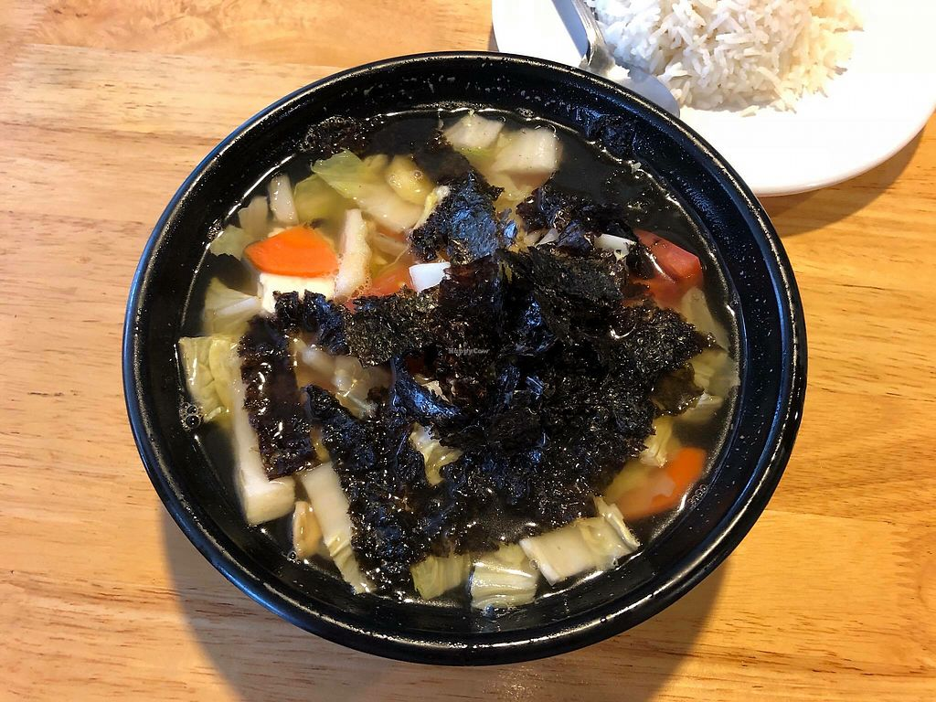 """Photo of Zi Zai Vegetarian  by <a href=""""/members/profile/CherylQuincy"""">CherylQuincy</a> <br/>Seaweed veggie soup <br/> February 9, 2018  - <a href='/contact/abuse/image/29398/356708'>Report</a>"""