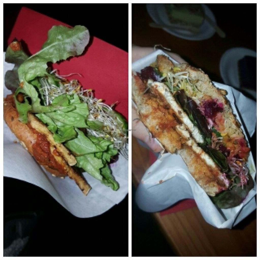 "Photo of CLOSED: Sun Day Burgers - Markthalle Neun  by <a href=""/members/profile/KaeyiDream"">KaeyiDream</a> <br/>Tofu steak burger <br/> November 1, 2015  - <a href='/contact/abuse/image/29435/123422'>Report</a>"