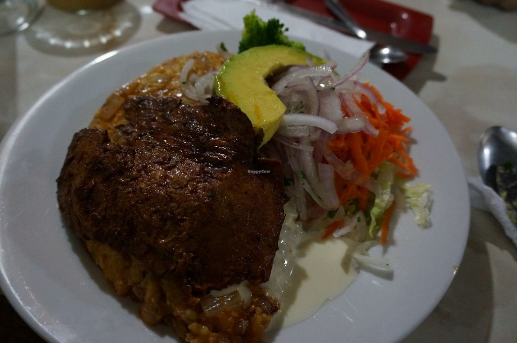 """Photo of Loving Hut Lince  by <a href=""""/members/profile/Ricardo"""">Ricardo</a> <br/>Tacu tacu with steak <br/> June 18, 2016  - <a href='/contact/abuse/image/29438/154618'>Report</a>"""