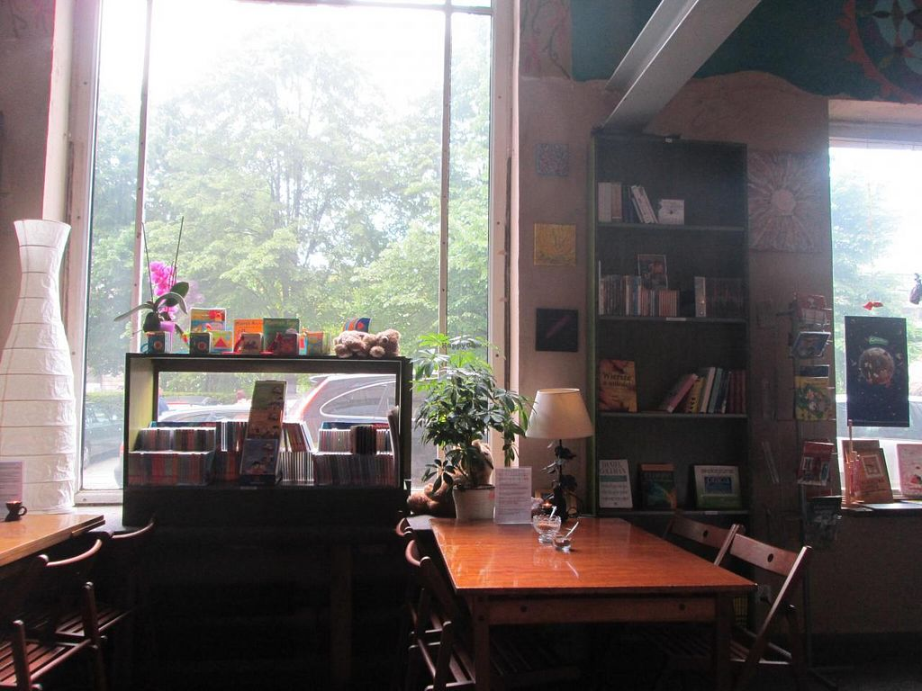 """Photo of Vegedajnia Nalanda  by <a href=""""/members/profile/J-Veg"""">J-Veg</a> <br/>Order some food or hot drink, grab a book and take a seat! <br/> May 11, 2014  - <a href='/contact/abuse/image/29472/69794'>Report</a>"""