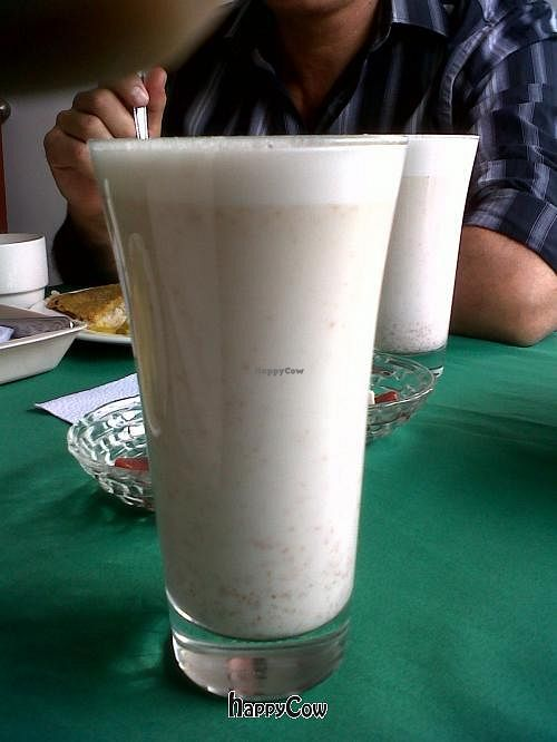 "Photo of El Champinon  by <a href=""/members/profile/Gado-Gado%20Gal"">Gado-Gado Gal</a> <br/>housemade almond milk, served with or without stevia <br/> October 13, 2012  - <a href='/contact/abuse/image/29477/39076'>Report</a>"