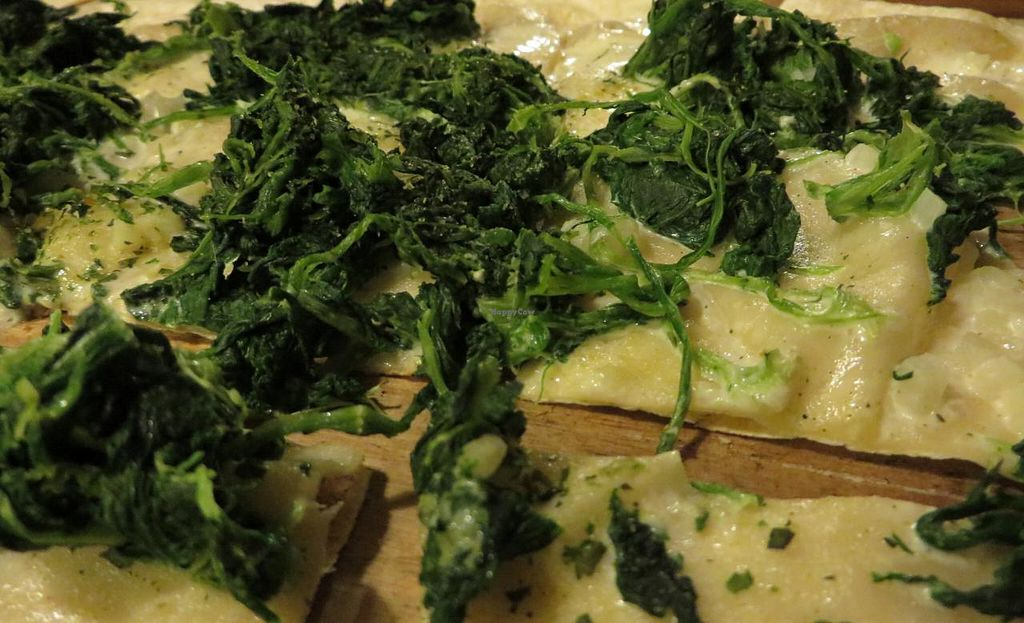 """Photo of Flammkuchenhaus  by <a href=""""/members/profile/VegiAnna"""">VegiAnna</a> <br/>spinach tarte flambee (vegan with soya sauce and no cheese) <br/> March 14, 2014  - <a href='/contact/abuse/image/29479/65897'>Report</a>"""