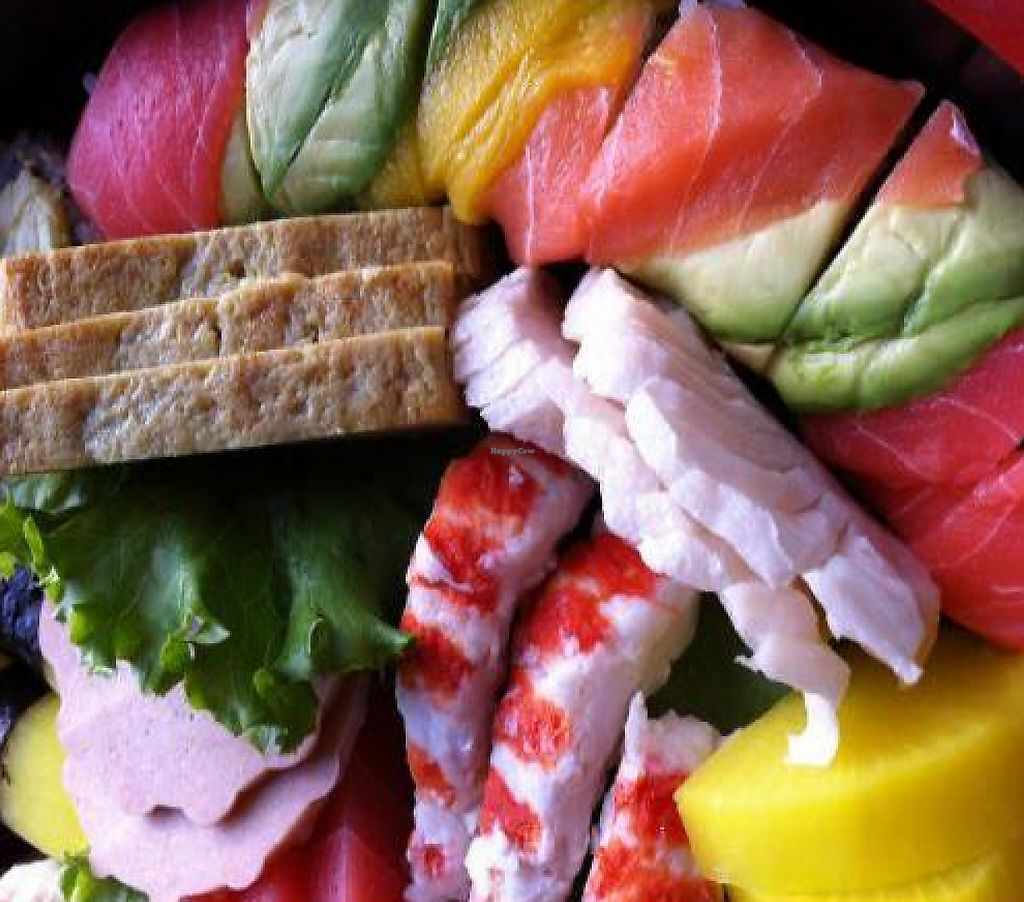 "Photo of Tenon Vegetarian Cuisine  by <a href=""/members/profile/Lulu22"">Lulu22</a> <br/>Yummy Rainbow Sushi <br/> December 12, 2011  - <a href='/contact/abuse/image/29489/199012'>Report</a>"