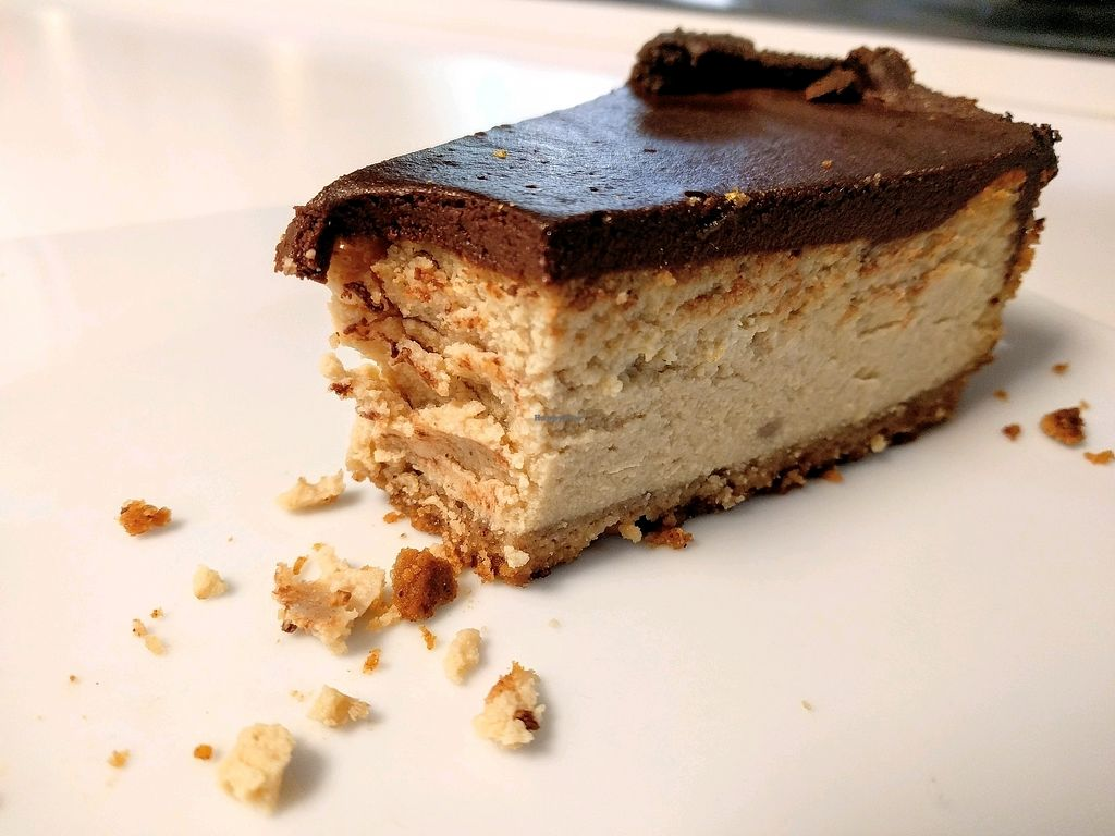 """Photo of Vegan Folie's  by <a href=""""/members/profile/The%20Hungry%20Vegan"""">The Hungry Vegan</a> <br/>Chocolate Banana Cheesecake <br/> November 25, 2017  - <a href='/contact/abuse/image/29521/329079'>Report</a>"""