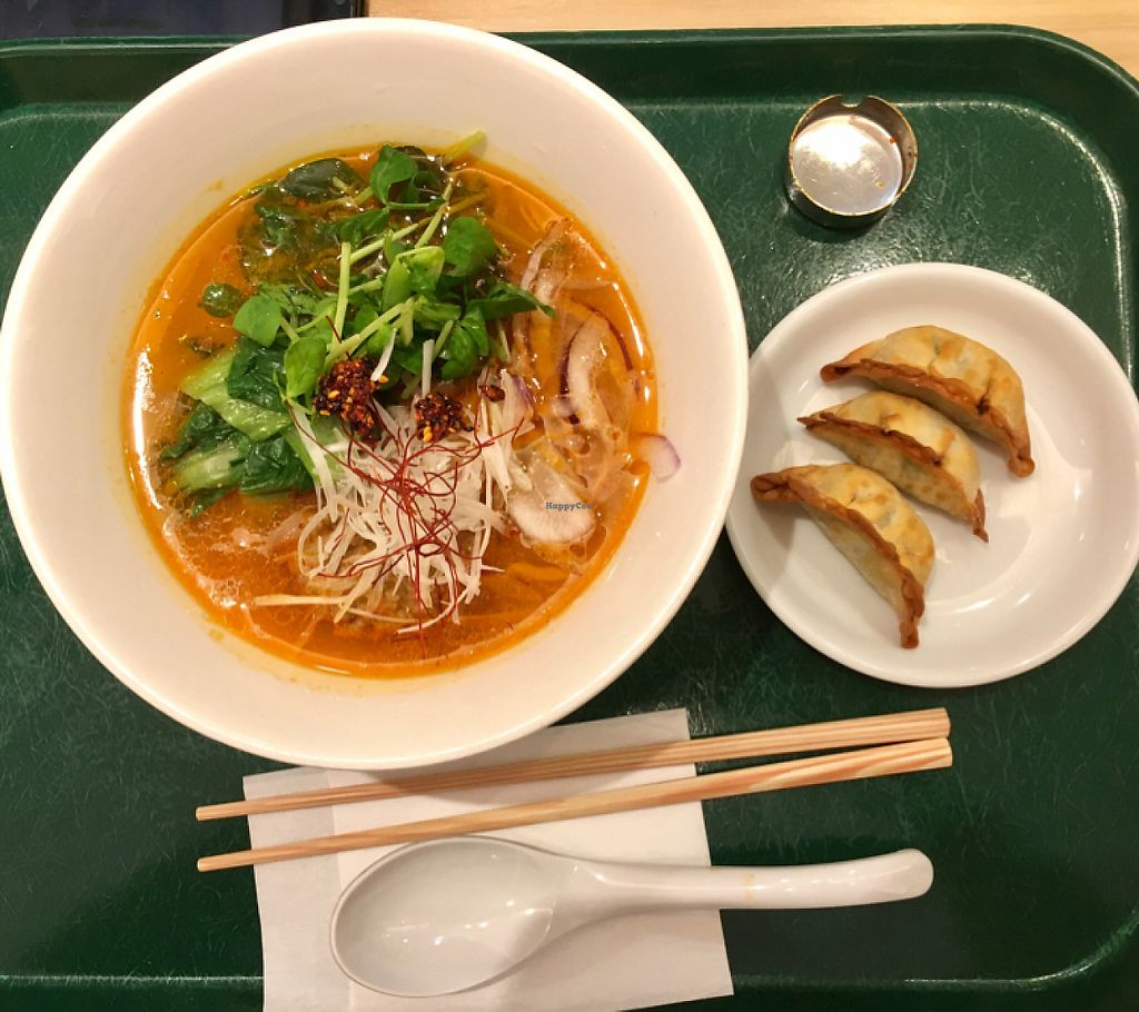 "Photo of T's Tantan - Tokyo Station  by <a href=""/members/profile/Kerouac32"">Kerouac32</a> <br/>White Sesame TanTan and Gyoza <br/> May 21, 2017  - <a href='/contact/abuse/image/29533/260922'>Report</a>"