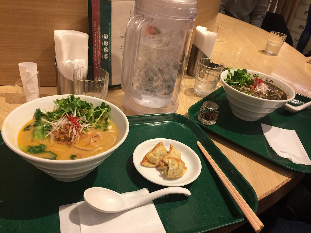 "Photo of T's Tantan - Tokyo Station  by <a href=""/members/profile/maemaea"">maemaea</a> <br/>Left - White sesame ramen & dumplings, Right - Black sesame ramen  <br/> March 9, 2018  - <a href='/contact/abuse/image/29533/368402'>Report</a>"