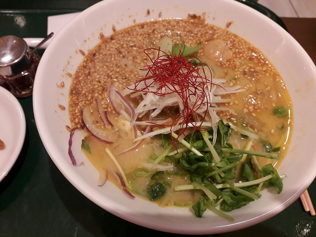 "Photo of T's Tantan - Tokyo Station  by <a href=""/members/profile/DublinVegan1986"">DublinVegan1986</a> <br/>white sesame ramen <br/> March 28, 2018  - <a href='/contact/abuse/image/29533/377334'>Report</a>"
