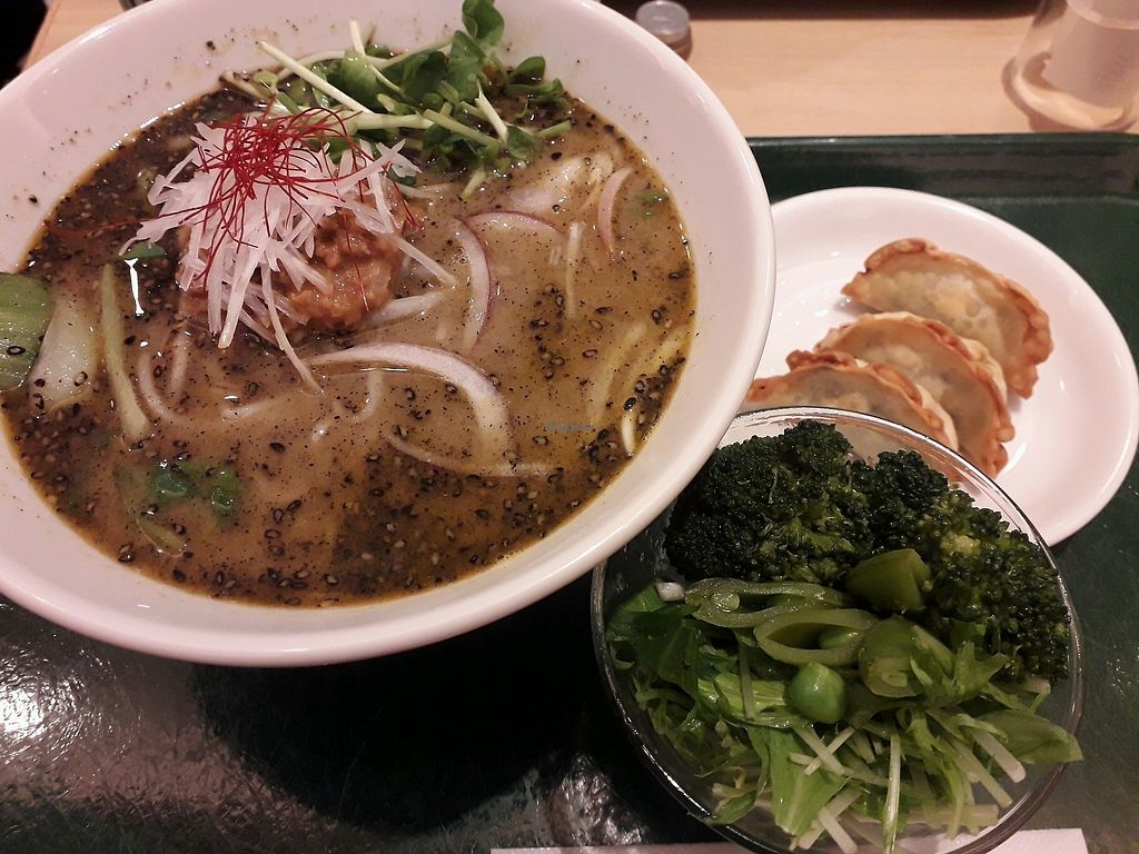 "Photo of T's Tantan - Tokyo Station  by <a href=""/members/profile/DublinVegan1986"">DublinVegan1986</a> <br/>black sesame ramen meal <br/> March 28, 2018  - <a href='/contact/abuse/image/29533/377335'>Report</a>"
