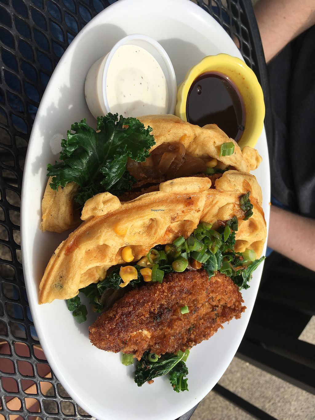 """Photo of Native Foods  by <a href=""""/members/profile/mettepalludan"""">mettepalludan</a> <br/>The waffles & chicken <br/> March 13, 2018  - <a href='/contact/abuse/image/29575/370320'>Report</a>"""