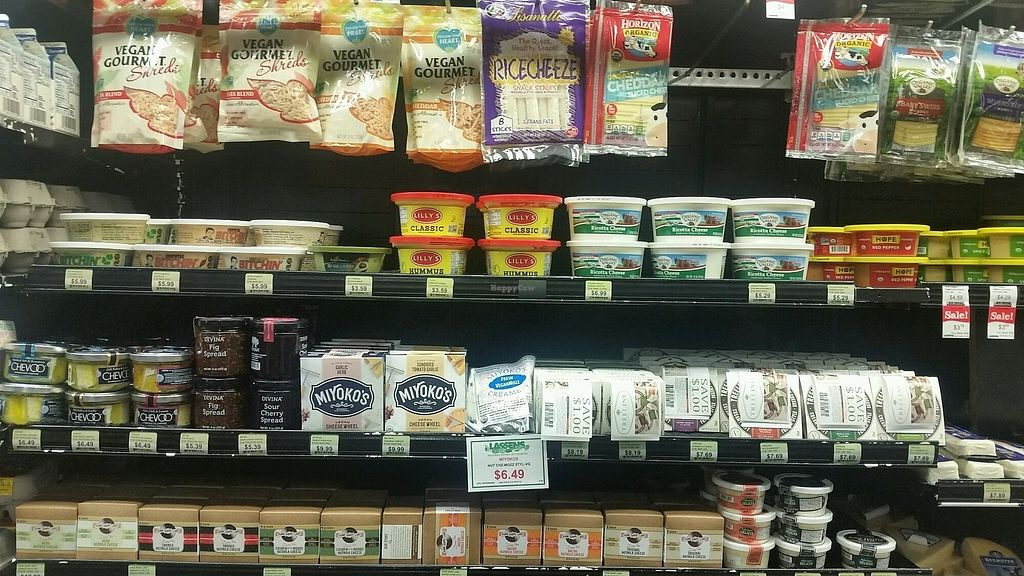 """Photo of Lassens Natural Foods & Vitamins  by <a href=""""/members/profile/Brenda%20Jauqe"""">Brenda Jauqe</a> <br/>Large variety of vegan cheeses <br/> January 29, 2018  - <a href='/contact/abuse/image/29580/352201'>Report</a>"""