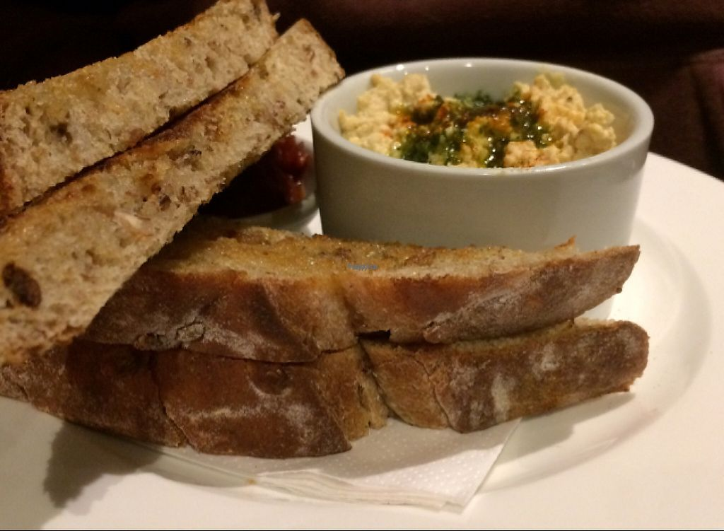 "Photo of David Bann Restaurant  by <a href=""/members/profile/CiaraSlevin"">CiaraSlevin</a> <br/>Hummus, tomato chutney and homemade breads <br/> November 16, 2016  - <a href='/contact/abuse/image/2961/191077'>Report</a>"