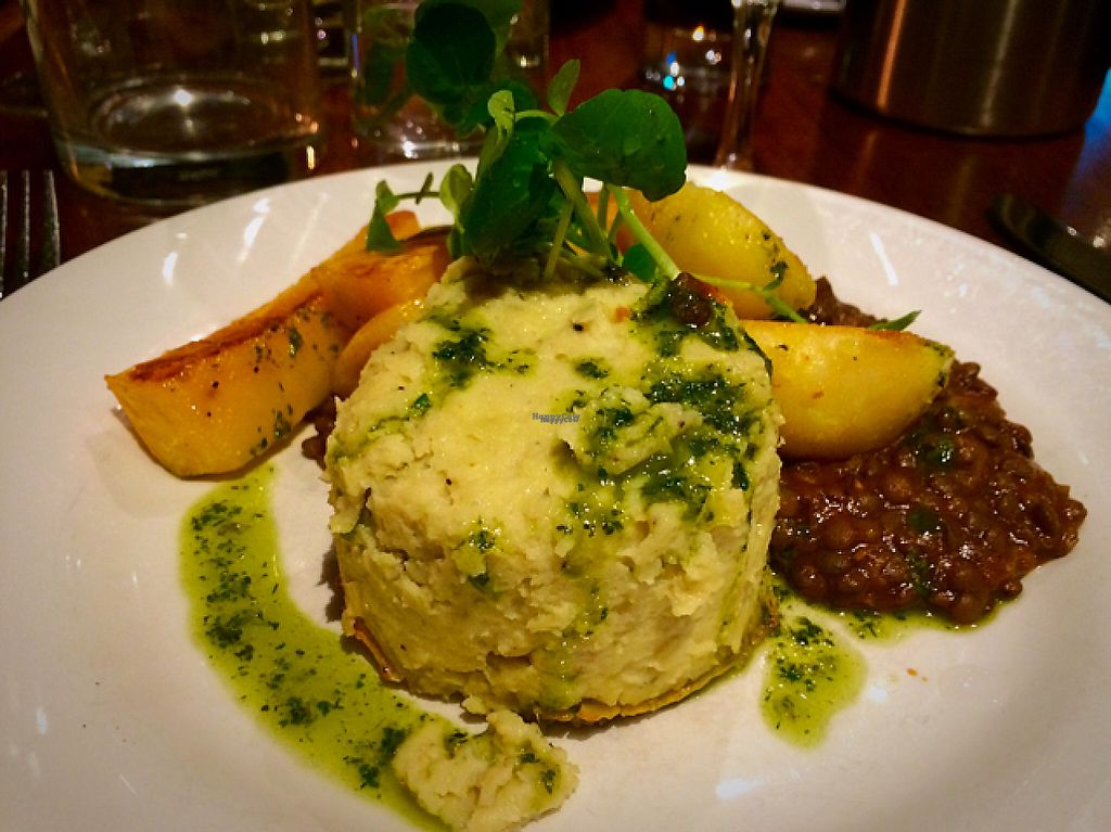 "Photo of David Bann Restaurant  by <a href=""/members/profile/CiaraSlevin"">CiaraSlevin</a> <br/>Parsnip, bramley apple & strathdon blue cheese pudding with puy lentils & roast veg <br/> November 16, 2016  - <a href='/contact/abuse/image/2961/191084'>Report</a>"
