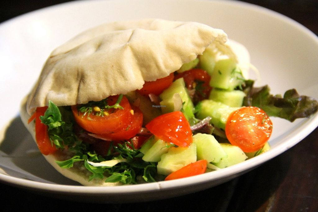 """Photo of Catfish Book Cafe  by <a href=""""/members/profile/reissausta%20ja%20ruokaa"""">reissausta ja ruokaa</a> <br/>Catfish falafel pita.  <br/> May 21, 2016  - <a href='/contact/abuse/image/29701/150066'>Report</a>"""