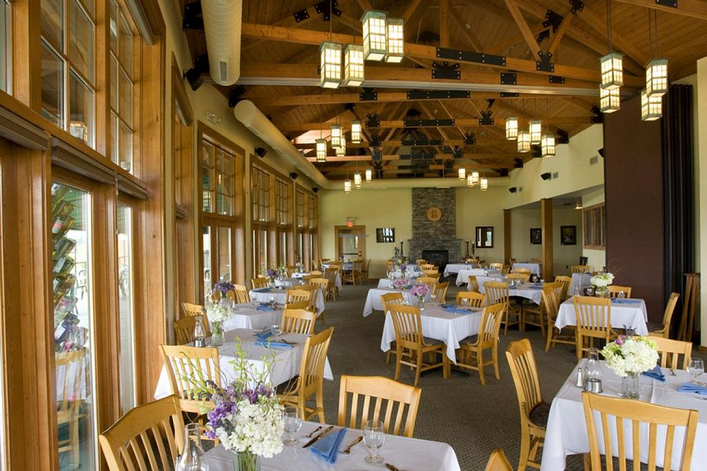 """Photo of The Veraisons Restaurant  by <a href=""""/members/profile/GlenoraWineCellars"""">GlenoraWineCellars</a> <br/>Dine inside with the cherry trim, cathedral ceilings, stone fireplace, and expansive windows with the vineyards and lake just outside. Or, enjoy the sweet smell of the vineyards from your table on the terrace <br/> February 12, 2014  - <a href='/contact/abuse/image/29745/64230'>Report</a>"""