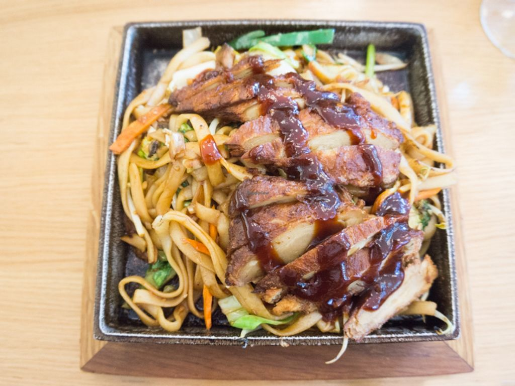 """Photo of Fu Cheng Noodlehouse  by <a href=""""/members/profile/biancah"""">biancah</a> <br/>Vegan Duck with Plum Sauce @ Fu Cheng Noodlehouse <br/> January 17, 2016  - <a href='/contact/abuse/image/29760/132817'>Report</a>"""