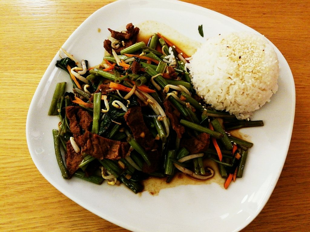 """Photo of Fu Cheng Noodlehouse  by <a href=""""/members/profile/katzi"""">katzi</a> <br/>fake beef with waterspinach <br/> February 23, 2018  - <a href='/contact/abuse/image/29760/362692'>Report</a>"""