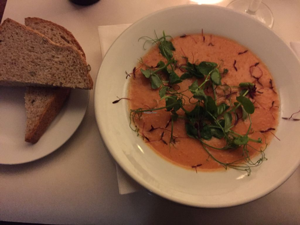 "Photo of Cafe Below  by <a href=""/members/profile/MariaBorgensgaard"">MariaBorgensgaard</a> <br/>gazpacho with bread and olive oil  <br/> June 24, 2016  - <a href='/contact/abuse/image/29782/155919'>Report</a>"