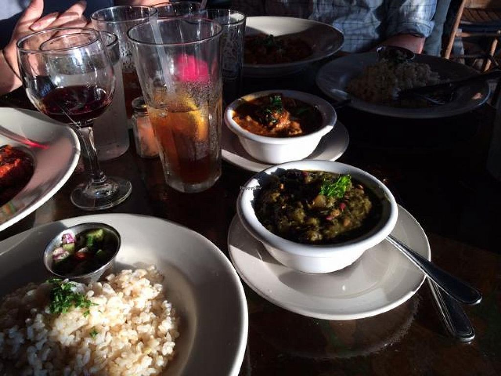 """Photo of Sage Vegetarian Restaurant  by <a href=""""/members/profile/tauberl"""">tauberl</a> <br/>spinach dish and eggplant dish with brown rice <br/> June 8, 2014  - <a href='/contact/abuse/image/2978/71677'>Report</a>"""