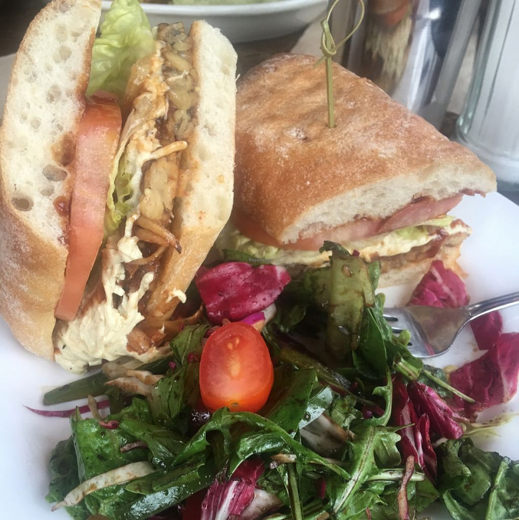 """Photo of The Witches Brew  by <a href=""""/members/profile/Stacie99"""">Stacie99</a> <br/>bbq tempeh sandwich  <br/> April 9, 2016  - <a href='/contact/abuse/image/29819/143604'>Report</a>"""