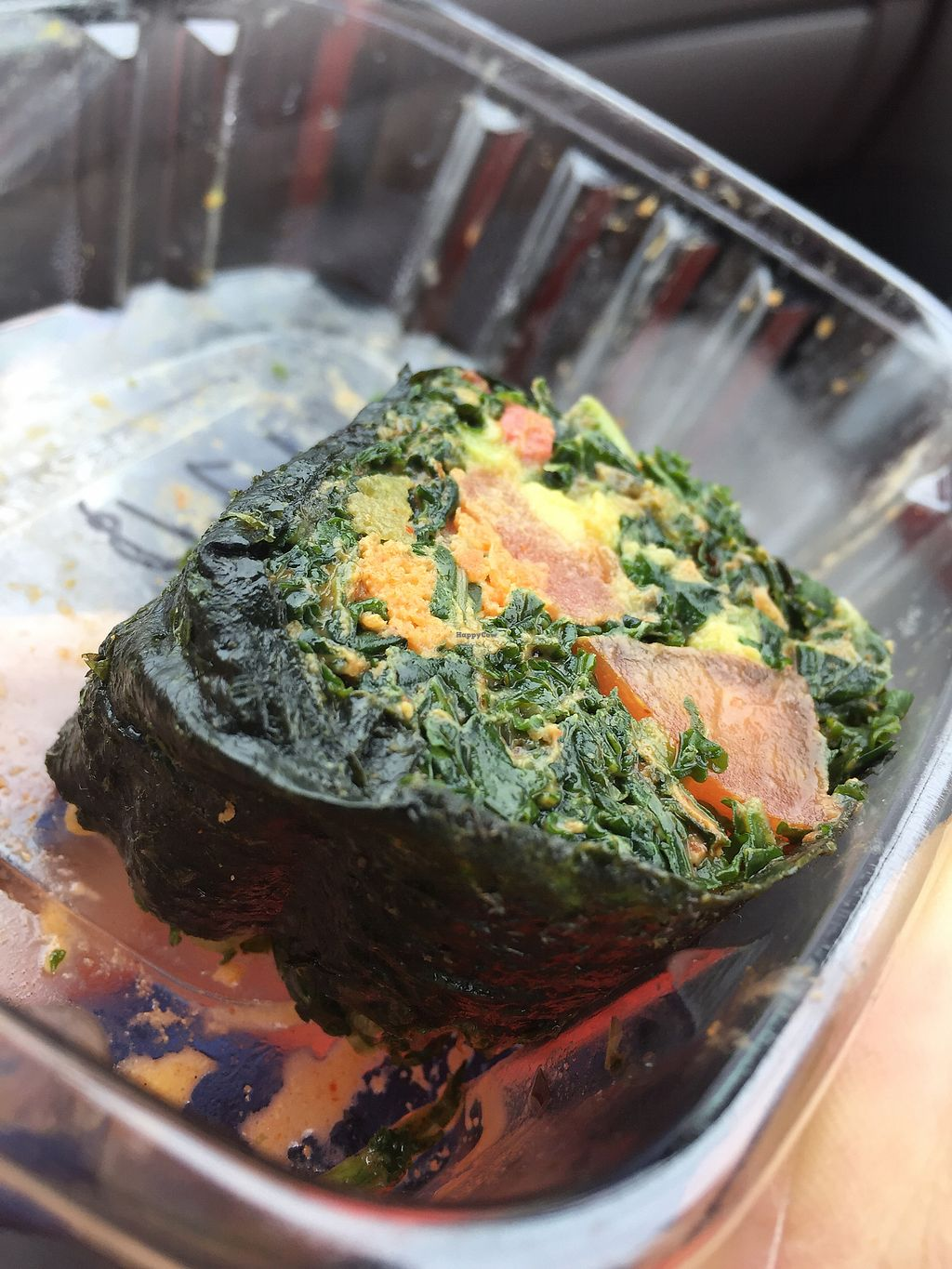 """Photo of Tassili's Raw Reality  by <a href=""""/members/profile/jfree"""">jfree</a> <br/>A piece of carrot tuna kale sushi <br/> January 8, 2018  - <a href='/contact/abuse/image/29830/344484'>Report</a>"""