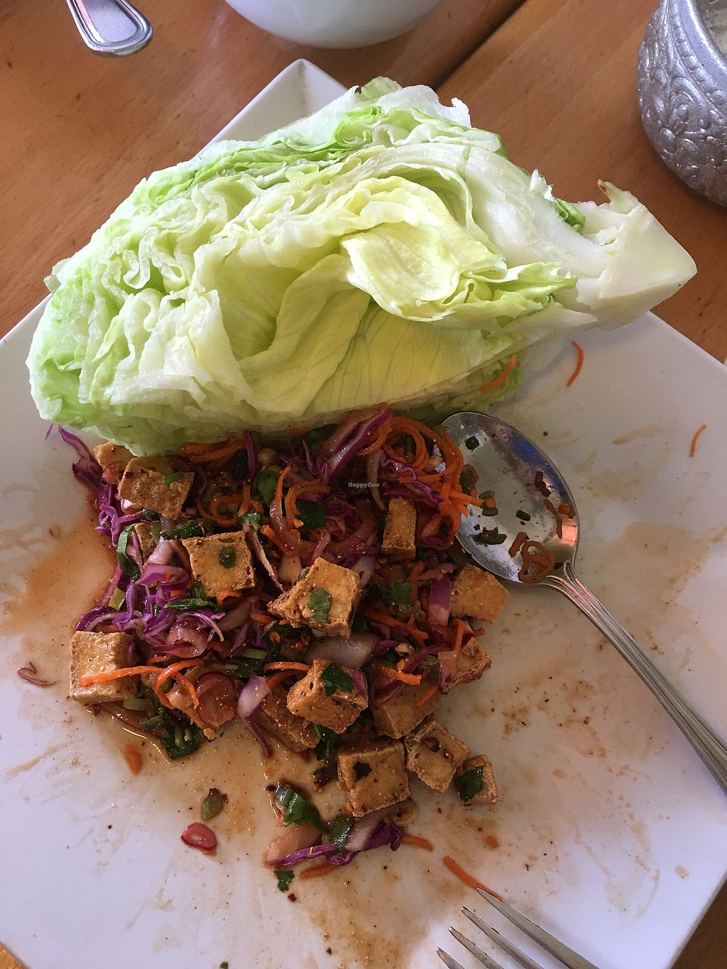 "Photo of Opal Thai  by <a href=""/members/profile/JessicaHolmes"">JessicaHolmes</a> <br/>Spicy radish ""polenta"" slaw with lettuce wedge <br/> September 10, 2017  - <a href='/contact/abuse/image/29883/302778'>Report</a>"