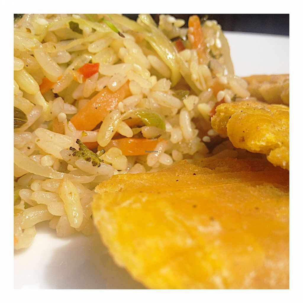 """Photo of Vegarden  by <a href=""""/members/profile/santiagovf"""">santiagovf</a> <br/>Thai rice with patacones (fried plantain) <br/> December 1, 2015  - <a href='/contact/abuse/image/29949/126804'>Report</a>"""