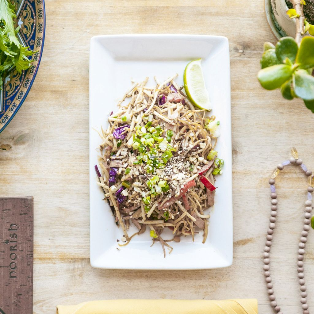 "Photo of Noorish Conscious Eatery  by <a href=""/members/profile/Sheniz%20Kassam"">Sheniz Kassam</a> <br/>Raw Vegan Pad Thai <br/> October 29, 2015  - <a href='/contact/abuse/image/29987/123117'>Report</a>"