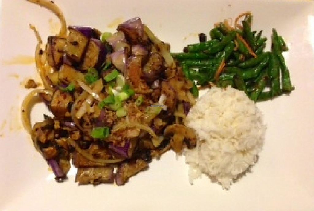 """Photo of Flavours of Malaysia  by <a href=""""/members/profile/veggivet"""">veggivet</a> <br/>Crispy eggplant with ginger and mushrooms <br/> May 22, 2014  - <a href='/contact/abuse/image/29998/202741'>Report</a>"""