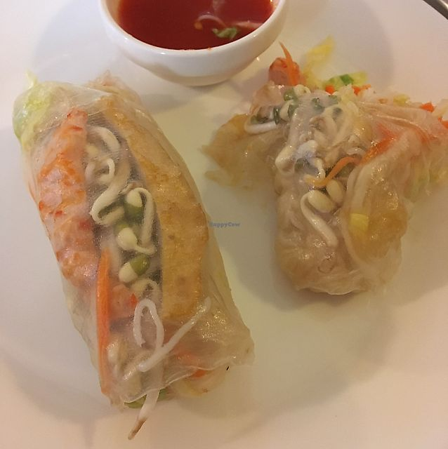 "Photo of Loving Hut - Vegansky Svet  by <a href=""/members/profile/emilyfp"">emilyfp</a> <br/>Super salty inedible spring rolls.  <br/> June 8, 2017  - <a href='/contact/abuse/image/30008/267110'>Report</a>"
