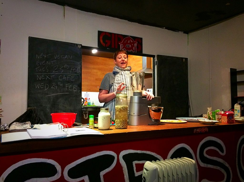 """Photo of Giro's Cafe  by <a href=""""/members/profile/CiaraSlevin"""">CiaraSlevin</a> <br/>Vegan Cookery Demonstration by Cook Kim Close <br/> January 27, 2016  - <a href='/contact/abuse/image/30010/133913'>Report</a>"""