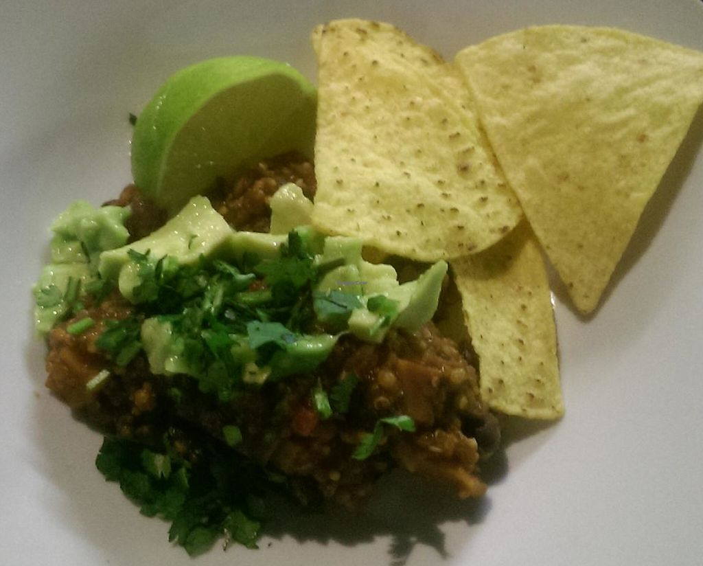 """Photo of Giro's Cafe  by <a href=""""/members/profile/cathutch82"""">cathutch82</a> <br/>Black bean chilli made at vegan cooking demo! <br/> April 2, 2015  - <a href='/contact/abuse/image/30010/239568'>Report</a>"""