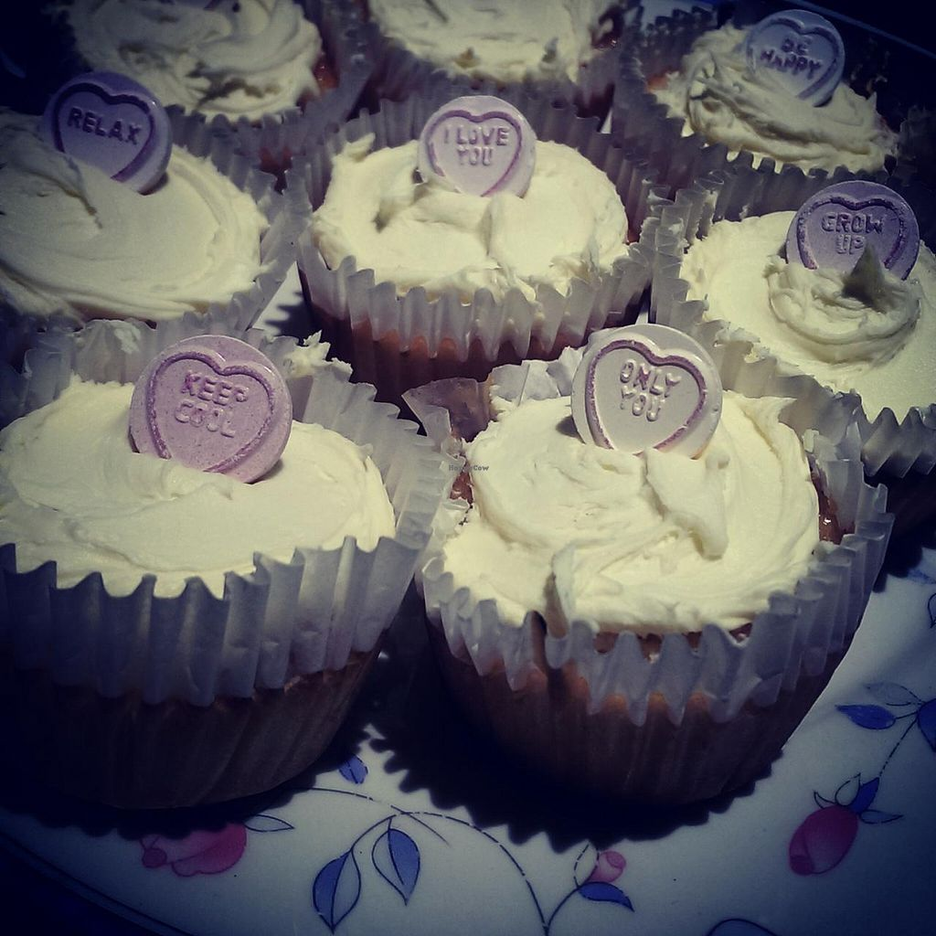 """Photo of Giro's Cafe  by <a href=""""/members/profile/cathutch82"""">cathutch82</a> <br/>Vegan lemon & vanilla cupcakes! <br/> April 2, 2015  - <a href='/contact/abuse/image/30010/97626'>Report</a>"""