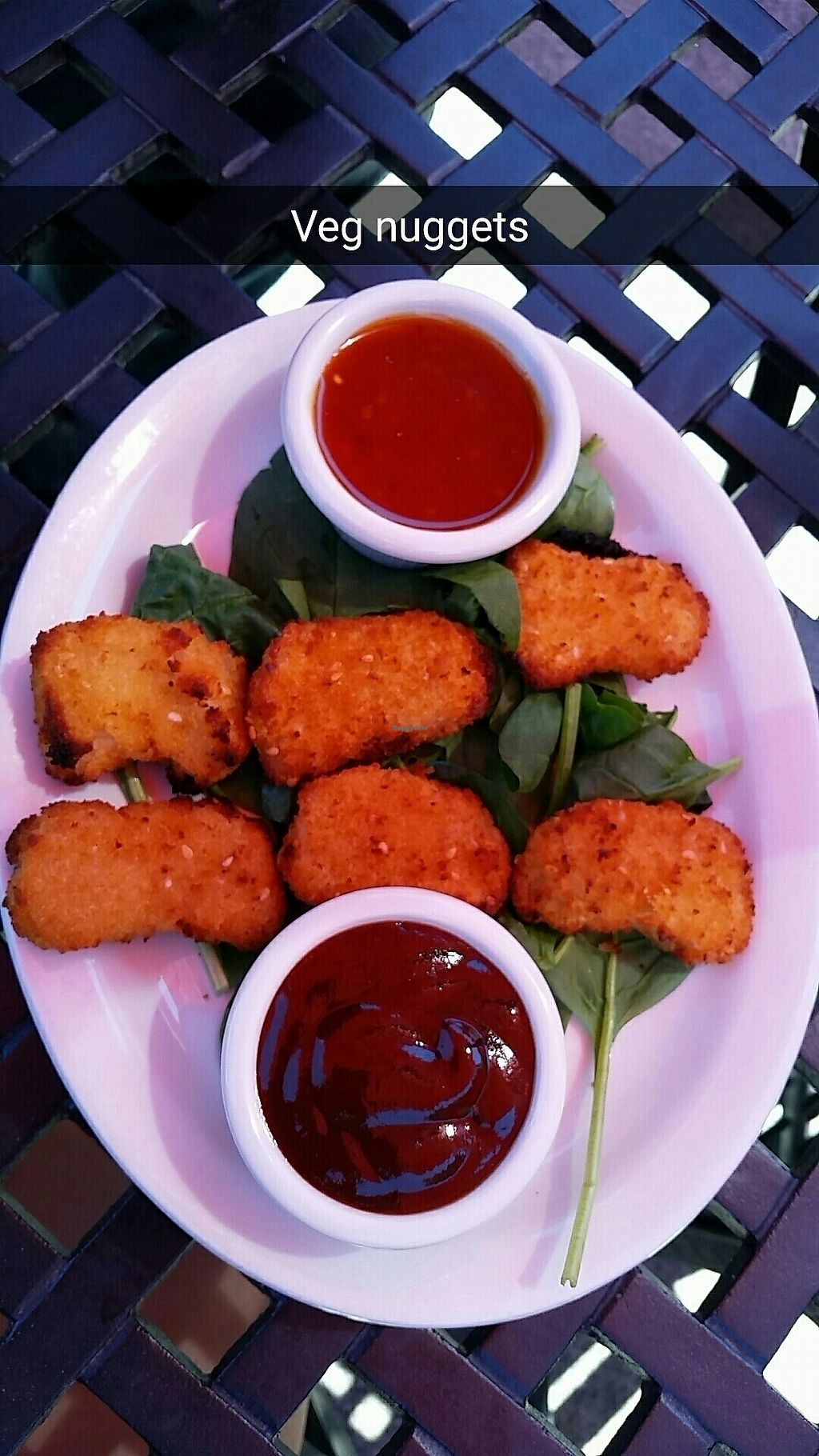 """Photo of Pizzetta  by <a href=""""/members/profile/L1feRabbit"""">L1feRabbit</a> <br/>""""Chicken Nuggets"""" with sweet chili sauce and BBQ. So fun to have options that resemble """"normal"""" food options.  <br/> July 11, 2017  - <a href='/contact/abuse/image/30047/278954'>Report</a>"""