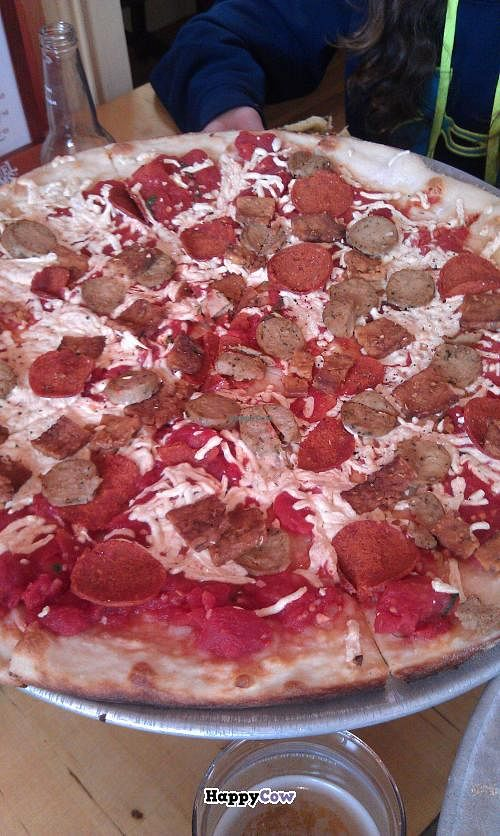 """Photo of Pizzetta  by <a href=""""/members/profile/Stacie99"""">Stacie99</a> <br/>Meatless meat-lovers pizza  <br/> July 12, 2013  - <a href='/contact/abuse/image/30047/51162'>Report</a>"""